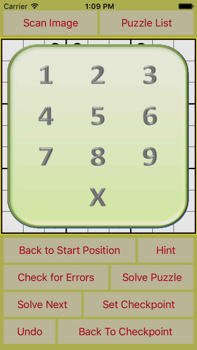 SudokuBuddy Number Pad
